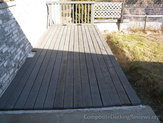 A delaminated composite deck.